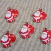 Breloques Père Noël pendentifs métal émaillé - lot de 5