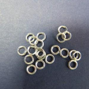 Anneaux de jonction 3mm argenté en métal ouvert – lot de 50