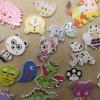 Boutons animaux kawaii insecte en bois bouton de couture - lot de 10