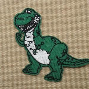 Patch dinosaure T-Rex vert écusson thermocollant à repasser