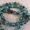 Perles calcédoine 6mm facetté dégradé vert - lot de 10 pierre de gemme