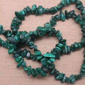 Perles Malachite pépite irrégulière pierre de gemme – lot de 25