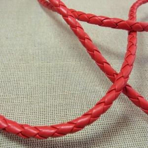 Cordon tressé rouge 5mm collier bracelet – vente au mètre