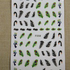 Nails-Art stickers plume autocollant décoration d'ongle