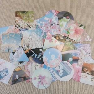 étiquettes autocollant japon scrapbooking, sticker papier autocollant / 40pcs