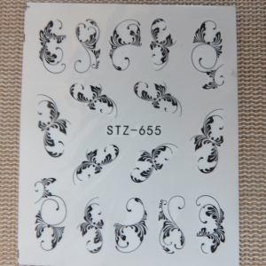 Stickers d'ongle chat fleur arabesque – Nails-Art décalcomanie – étiquettes collante décoration d'ongle