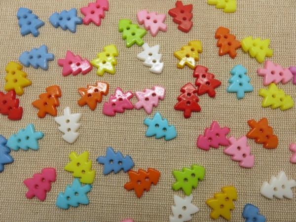 Boutons Sapin de noël 18mm bouton de couture- lot de 10