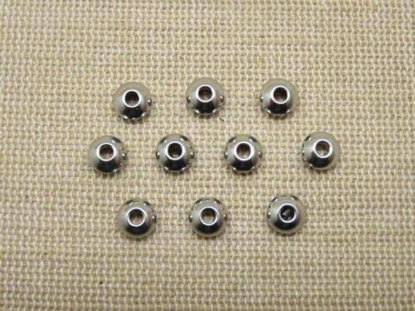 Perles soucoupe 6mm intercalaire acier inoxydable - lot de 10