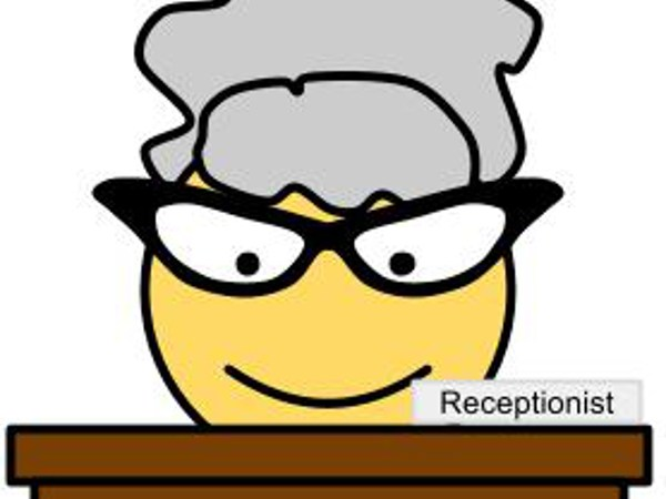 Receptionist Smiley