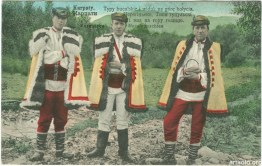 Типи гуцульські та вид на гору Голицю (видано 1915 - Artystow we Wiedniu) ----- Hutsul