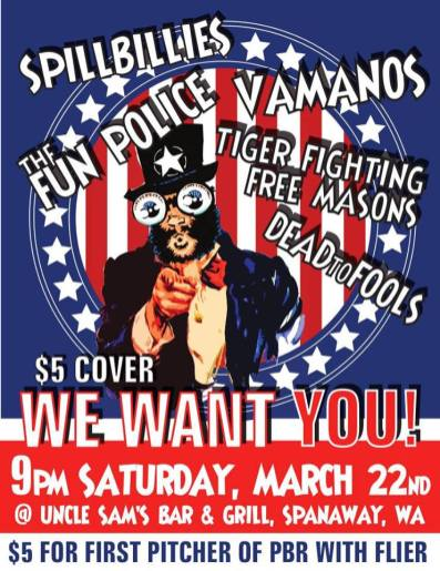 Flyer - The Fun Police Uncle Sam's Show