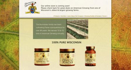 Web Design - Burmeister Ginseng Ecommerce