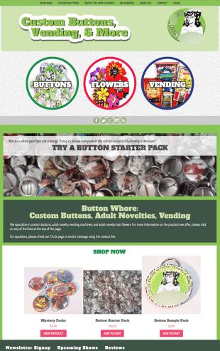 Web Design - Custom Buttons Ecommerce