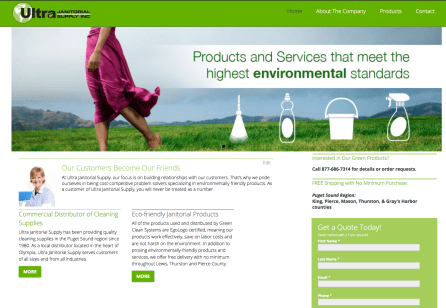 Web Design - Green Clean Systems