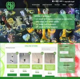 Web Design - Greenroom Glass Shop