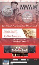 Web Design - Zebrana B Music Website