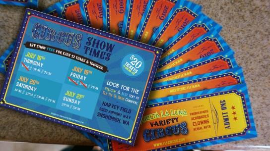 Print - VLL Circus Tickets