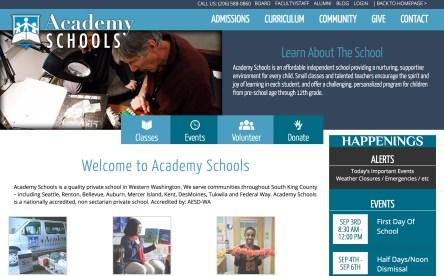 Web Design - Academy Schools
