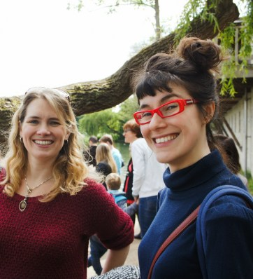 Teresa Harrison and Elizabeth Murton at the Open Day