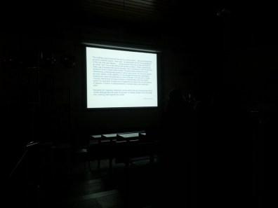 Milos delivers a lecture