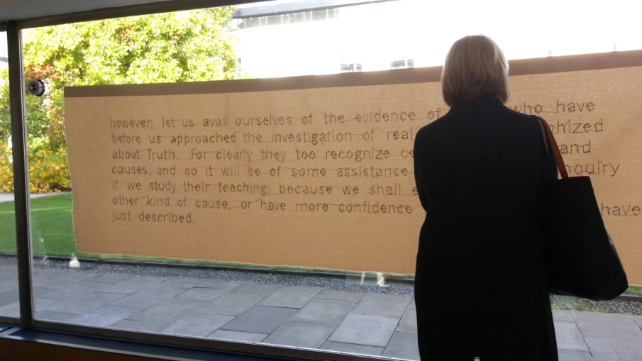 Work by Abi Spendlove at the Raised Faculty Building