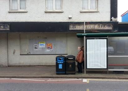 Ben Bird's poster outside The Five Bells