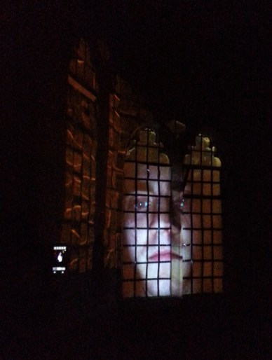 Sally Stenton's projection at St Ives