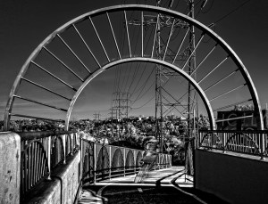 "Richard Greene ""Baum Bike Bridge, L.A., CA - 2013"""