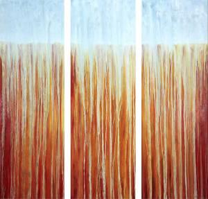 "Rachel Brask ""Autumn Fire & Rain (Triptych)"""