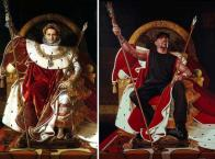 """""""Napoleon I on His Imperial Throne"""" Jean Auguste Dominique Ingres """"Ice T"""" Kehinde Wiley"""