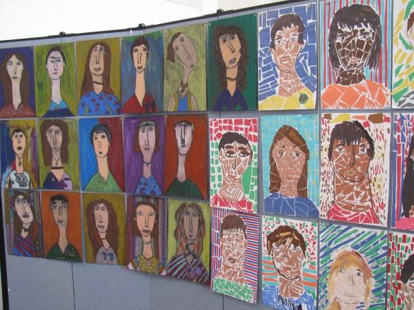Elementary Art Show Display Ideas