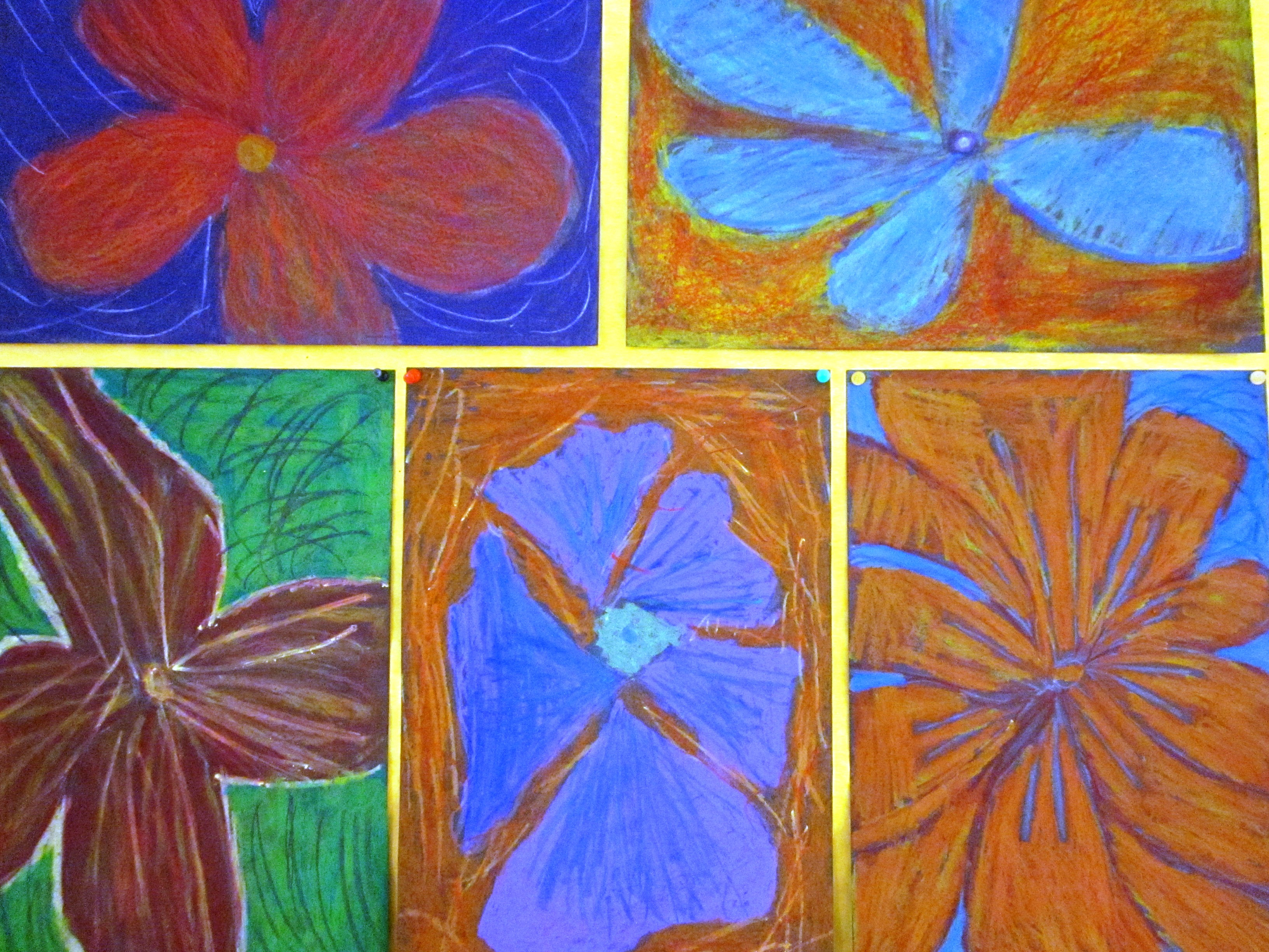 Oil And Chalk Pastels In Grade Two