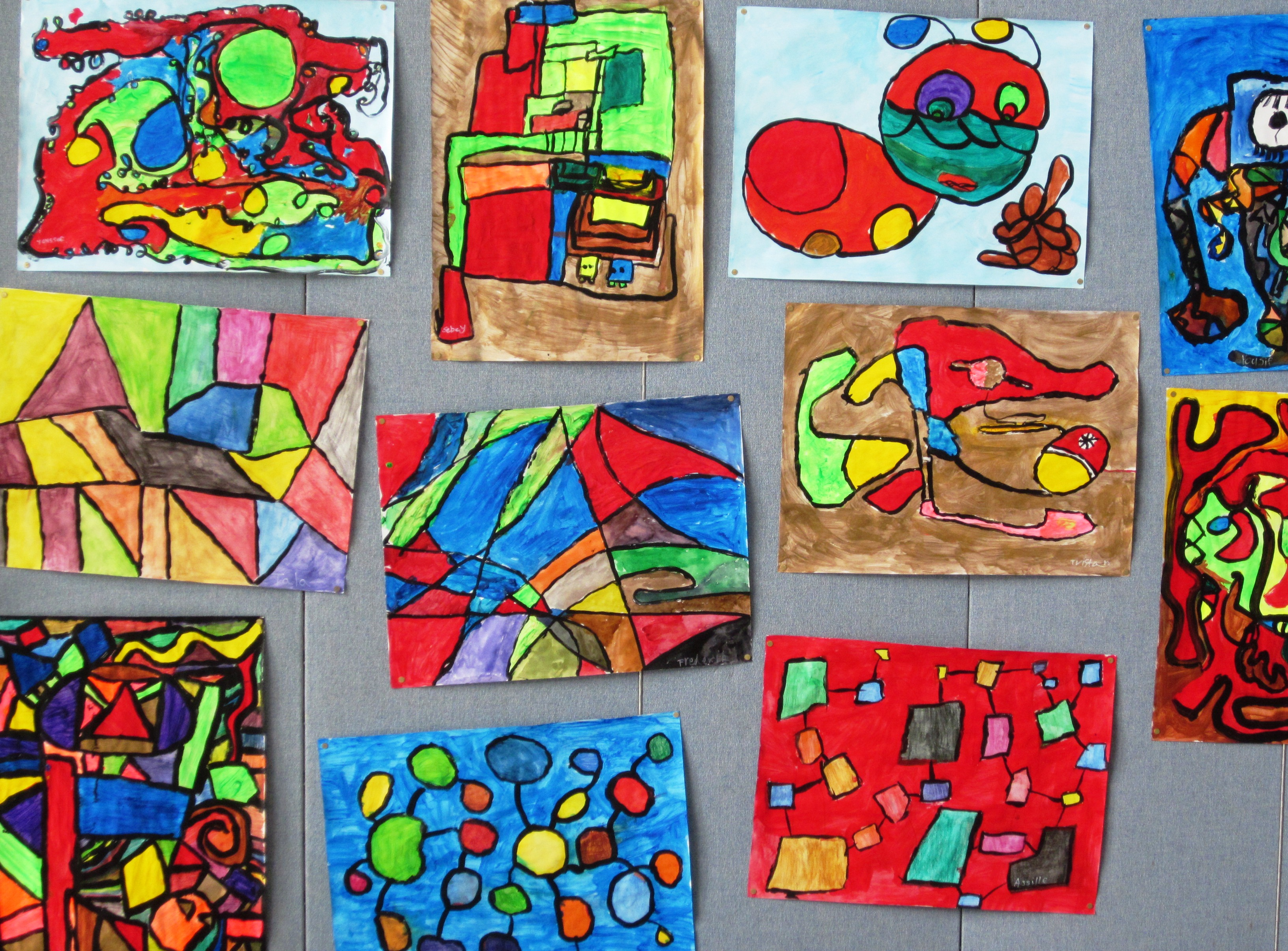 Abstract Art In Grade Three