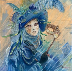 Blue Venetian Dream, Painting by Alex Levin