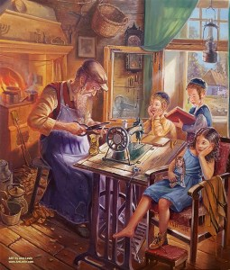 Shoemaker, Painting by Alex Levin