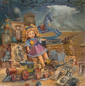 Stolen Childhood, Painting by Alex Levin