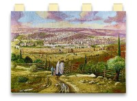 Road to Jerusalem Tapestry by Alex Levin