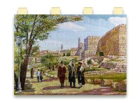 Sabbath walk by the David's Tower. Tapestry by Alex Levin
