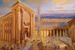 The second Jewish Temple, Painting by Alex Levin