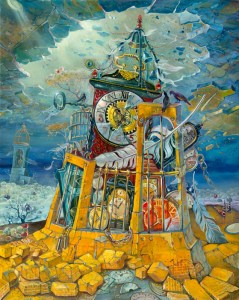 Tower of Babylon, Painting by Alex Levin