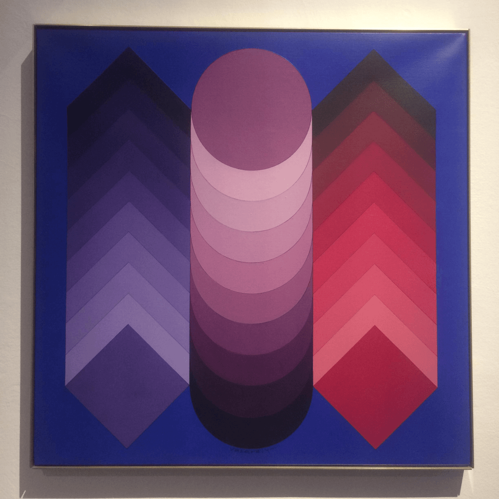 Artwork from the Vasarely Museum in Budapest