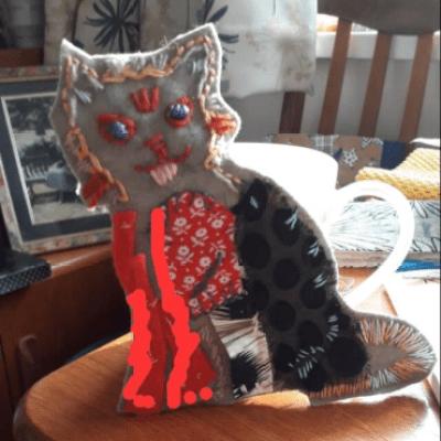 Grace's cat piece