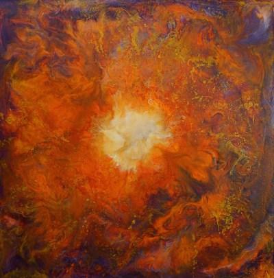 Spiraling Mandala Artwork by Becky Black