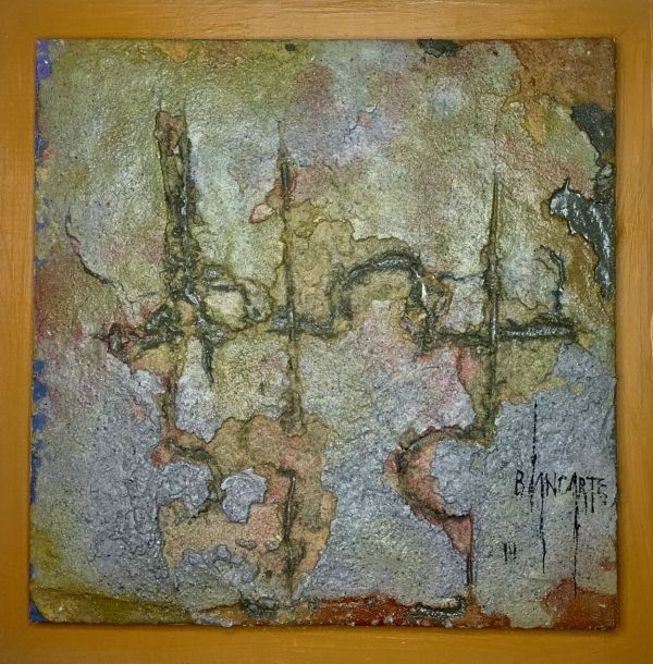 En Los Grices I (In the Grays I) - Mixed Media Painting