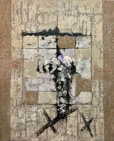La Entrada (The Entrance) - Mixed Media Painting