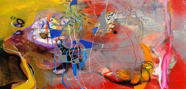 Contemporary mixed-media painting by Alejandro Martinez-Pena
