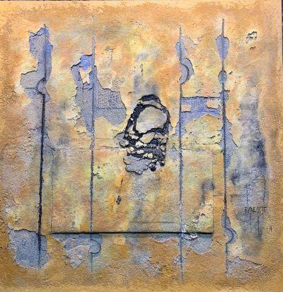 Contemporary mixed-media painting by Alvaro Blancarte
