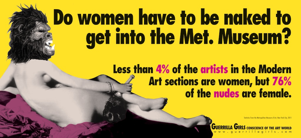 Feminist art campaign by the Guerrilla Girls