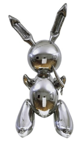 Jeff Koons' contemporary art sculpture Rabbit, which is the most expensive artwork to be sold by a living artist.