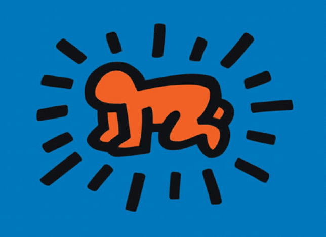 Keith Haring's famous contemporary artwork Radiant Baby from 1990